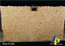 Santa Cecilia Light Granite Slabs & Tiles, Brazil Yellow Granite