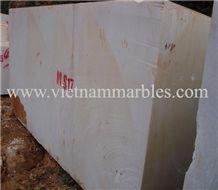 Pure White Marble Block, Viet Nam White Marble