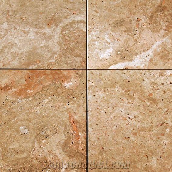 Arizona Red Travertine Tiles from Turkey - StoneContact com