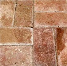 Copper Red Travertine - Chiseled Edge