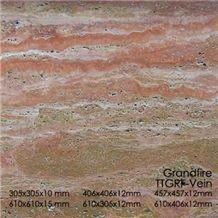 Traverten Tile - Red (Grand Fire)