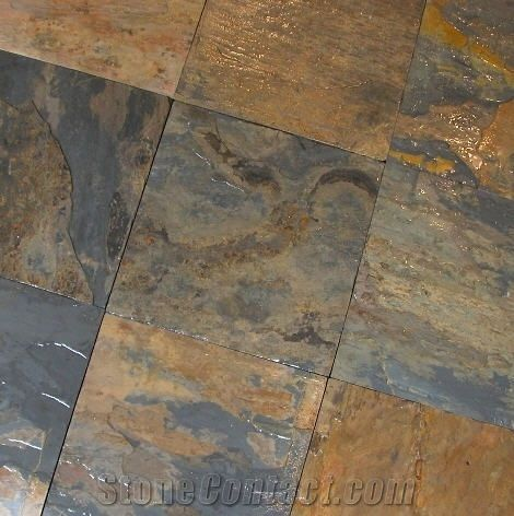California Gold Slate Slabs Tiles India Yellow Slate From