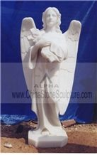 Supply White Marble Statues,Angel Sculpture