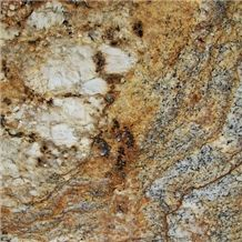 Golden Crystal Granite Slabs & Tiles, Brazil Yellow Granite