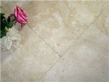 Extra Light Travertine Floor Tile, Beige Travertine