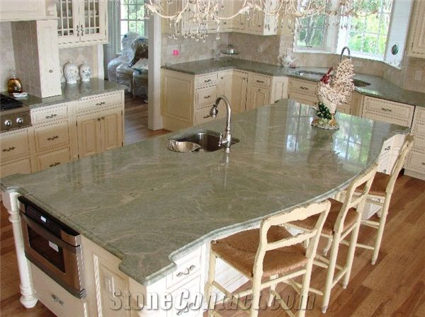 French Marble Top Kitchen Island View Full Size