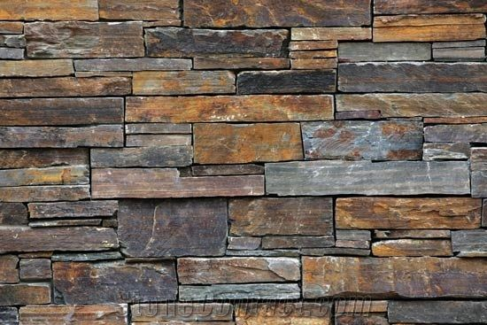 Multicolour Slate Wall Panels from United Kingdom - StoneContact.com