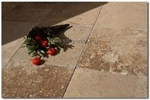 Mexican Noce Travertine Floor Tile, Mexico Brown Travertine