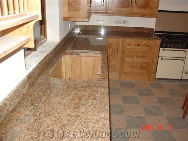 Giallo Veneziano Granite Kitchens