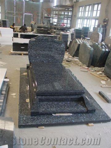 Granite Monument Grave Stone Tombstone Pearl Blue Granite