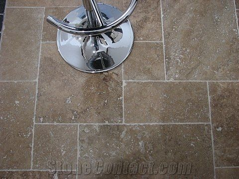 Noce Travertine Tumbled Floor Tile Pattern From United