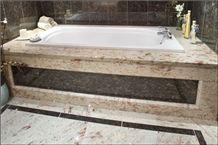 Shivakasi Ivory Granite Bathtub Surround