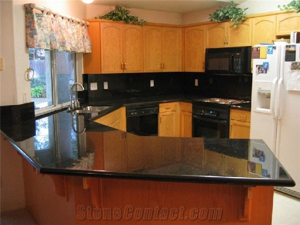 Black Galaxy Granite Kitchen Countertop Galaxy Black Granite From