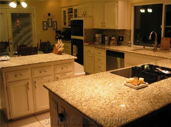 Exceptionnel New Venetian Gold Granite Countertop, Yellow Granite Kitchen Design