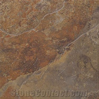 Copper Slate Slabs Tiles India Brown