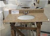China G682 Rusty Yellow Granite Bathroom Vanity Top, Bathroom Tops, Indoor Custom Vanity Tops with Sink