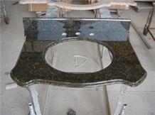 Green Galaxy Granite Bathroom Vanity Top, Natural Stone Bathroom Tops, Indoor Custom Vanity Tops