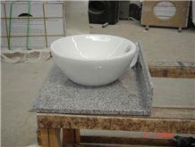 White Marble Bathroom Oval Sinks, Oval Basins, Vessel Sink, Natural Stone Wash Basins
