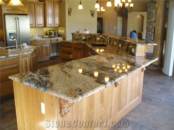 Vulcan Gold Granite Countertop From United States