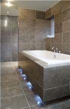Lagos Azul Limestone Honed Bathroom Decorating