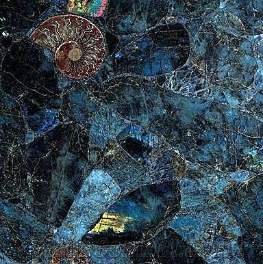 Blue Labradorite Tile Countertop From Canada
