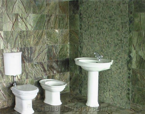 Rainforest Green Marble Bathroom Rain Forest Green Marble