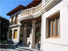 Caliza Crema Pinar Exterior Wall, Spain Beige Limestone Slabs & Tiles