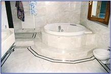 Bathroom Verde Jasmine- Inlays Black Marquinia, Marble Bath Design