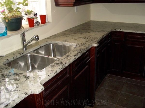 Luna Pearl Granite Countertop From Canada Stonecontact Com