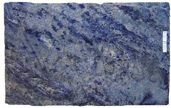 Azul Bahia Granite Slabs Tiles, Brazil Blue Granite-40859 ...