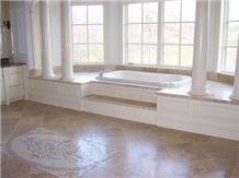 Durango Stone Bathroom Design, Beige Limestone