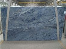 Azul Bahia Granite Slab, Brazil Blue Granite