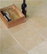 Jerusalem Gold Limestone Floor Tile Tumbled