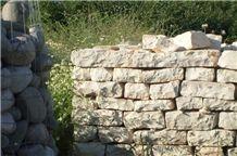 Natural Stone Retaining Wall, Qafe Shtama Beige Limestone