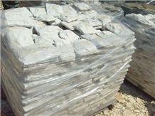 Olive Green Sandstone Split Mushroom Stone