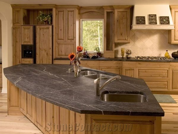 Superieur Soapstone Kitchen Island, Countertop