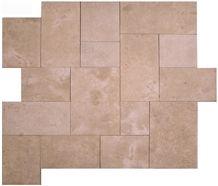 Vallangis Jaune Limestone Mosaic Pattern