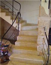 Ramon Gold Limestone Stairs, Yellow Limestone Stairs