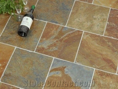 African Multicolour Slate Floor Tile From Kenya Stonecontact