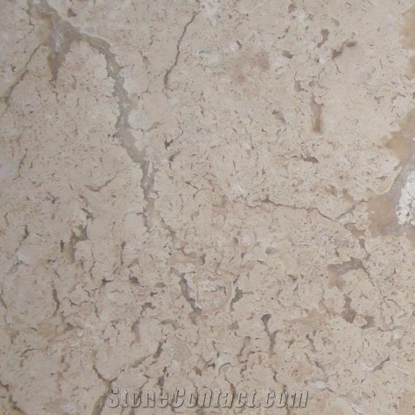 Tumbled Light Beige Stone Effect Travertine Wall Floor: Fossil Travertine Light Tiles Slabs, Beige Polished