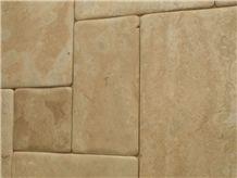 Wavy Edge Travertine Tiles & Slabs, Beige Travertine Floor Tiles, Wall Tiles