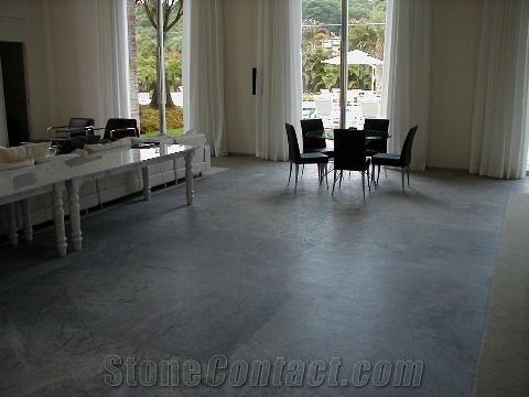 Beleza Soapstone Floor Tile Brazil Grey