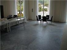 Beleza Soapstone Floor Tile, Brazil Grey Soapstone