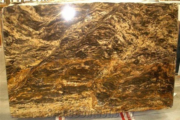 Thunder River Granite Golden Thunder Granite Slab From