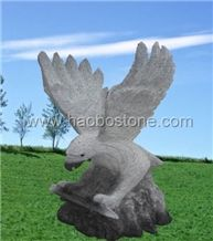 Granite Eagle Engraving Stone, Animal Stone Sculpture