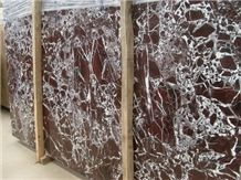 Rosso Lepanto Red Marble Slabs & Tiles, Italy Red Marble