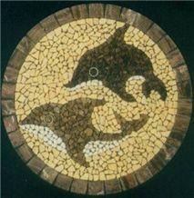 Granite Mosaic Medallions