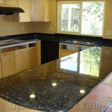 China Butterfly Green Granite For Countertop Butterfly