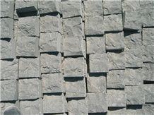 Hainan Black Basalt Cube Stone,Cobble Pavers