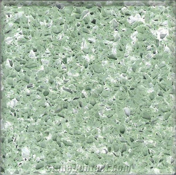 Green Quartz Surfacing Ybs 056 From China Stonecontact Com